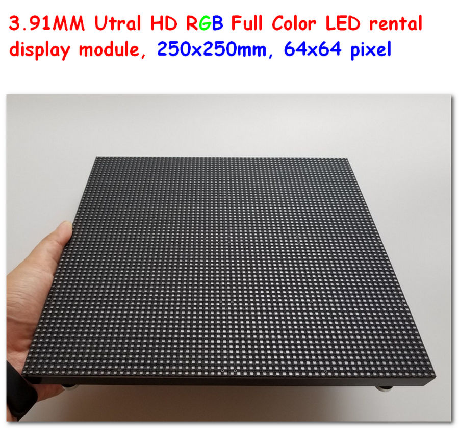 P3.91 indoor full color led display panel 64 * 64 pixel 250mm * 250mm size 3.91mm led modules for rentalP3.91 indoor full color led display panel 64 * 64 pixel 250mm * 250mm size 3.91mm led modules for rental