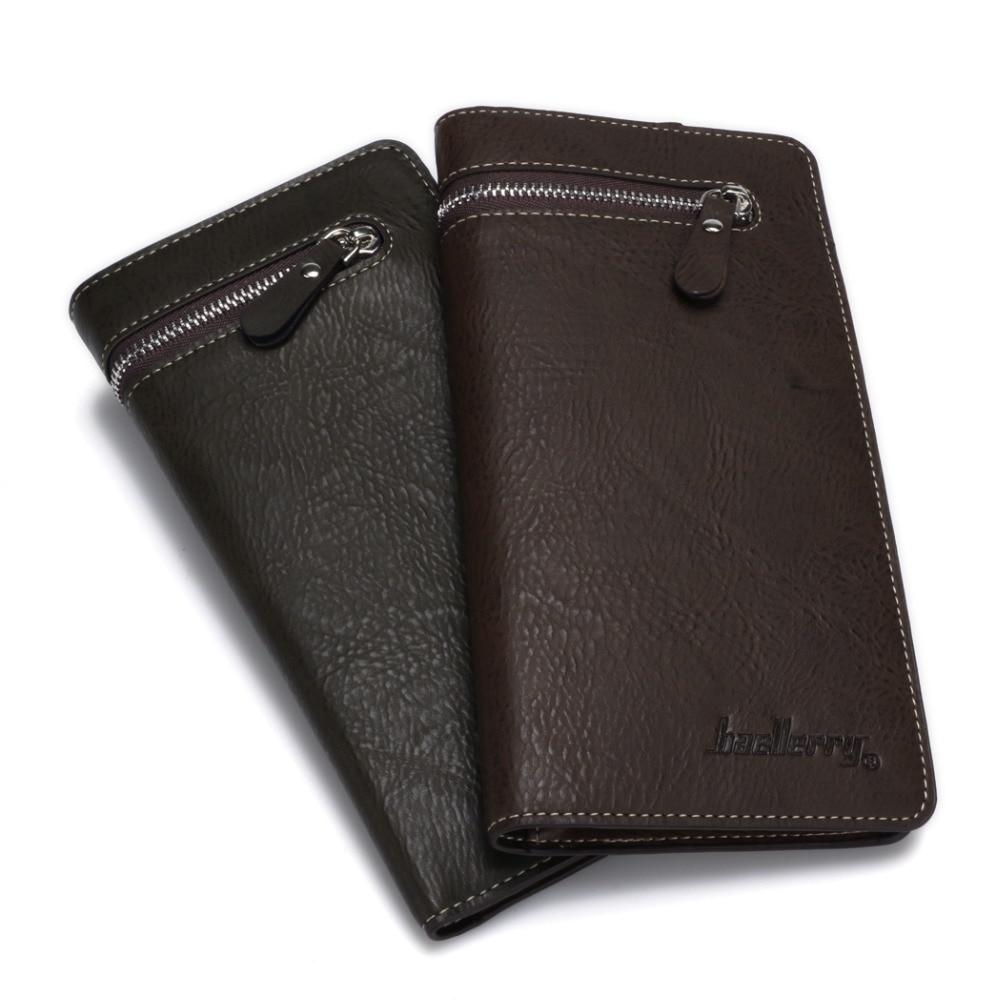 Long Male Designer new Brand Luxury Leather Men Wallet Clutch Bags Baellerry Purse Carteras Walet Money clip Portfel vy