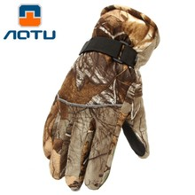 Outdoor bionic camouflage warm gloves Anti-Splashing water skid hunting in autumn and winter sports gloves H215