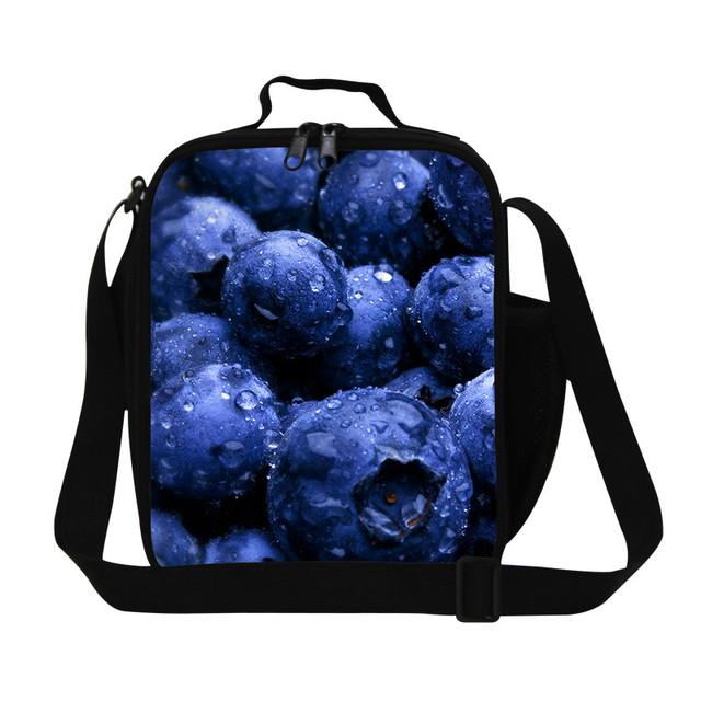 2016 Niños Bolsas de Comida Frutas 3D Impresión Bolsa Termica Lancheira Bolsa de Portátil de Pequeño Tamaño Para Hombre Aislado Lonchera Térmica Para La Escuela