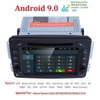 2din 7 inch CAR DVD PLAYER For Mercedes Benz W209 W203 W168 M ML W163 W463 Viano W639 Vito Vaneo 4g GPS BT Radio USB SD CAM Map