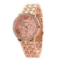 3 Colors Hot Selling Ladies Watch Stainless Steel Casual Wrist Watch Women Luxury Quartz Watch