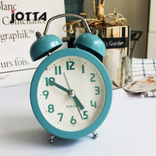 Quiet Nordic metal night light ring alarm clock bedroom desk desk clock student alarm clock fashion simple clock цена в Москве и Питере