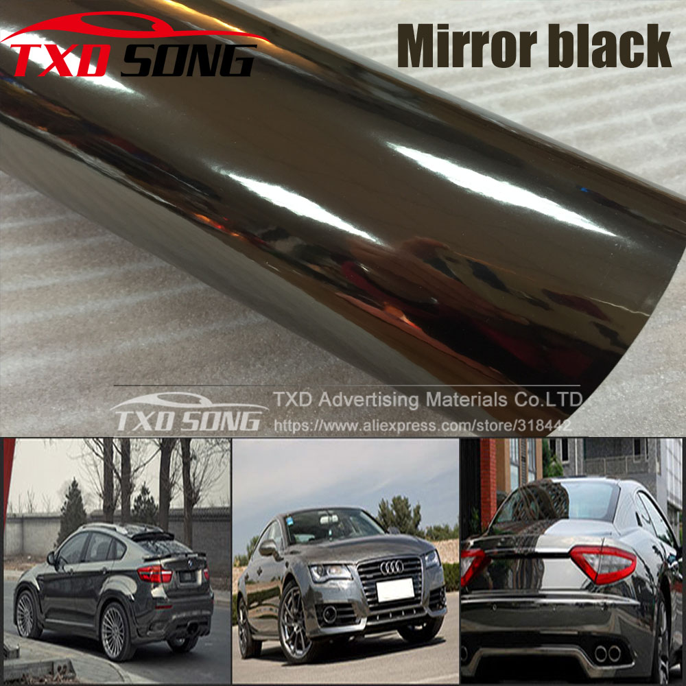 High stretchable mirror Black gold rose gold silver Chrome Mirror flexible Vinyl Wrap Sheet Roll Film Car Sticker-in Car Stickers from Automobiles & Motorcycles