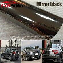 Hoge rekbaar spiegel Zwart goud rose goud zilver Chroom Spiegel flexibele Vinyl Wrap Sheet Roll Film Auto Sticker