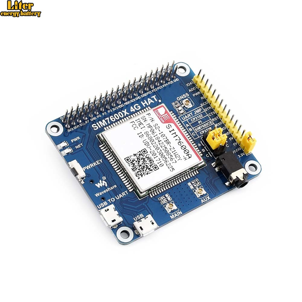 4G / 3G / GNSS HAT for Raspberry Pi, LTE CAT4, for North America4G / 3G / GNSS HAT for Raspberry Pi, LTE CAT4, for North America