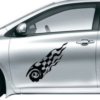 Black And White Flag Fashion Butterfly Car Sticker Waterproof Reflective Decal Vinyl Custom Made Home DIY
