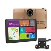 7 inch GPS Navigation Android WiFi GPS DVR Camera Big Truck Dual Camera Bluetooth MT8127 Quad-core Car GPS Navigator Free map