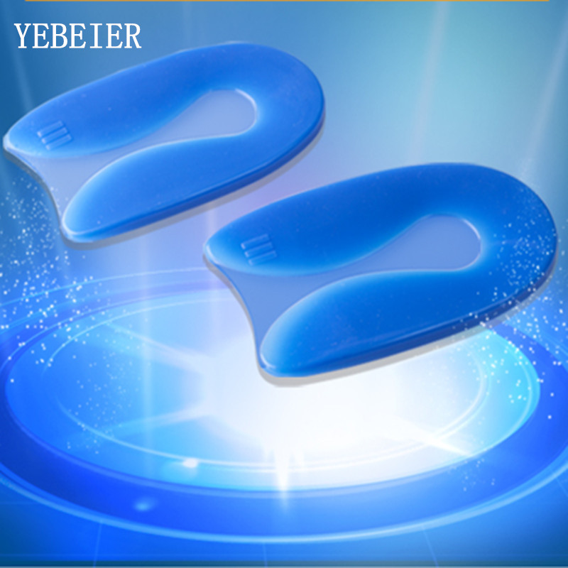 100% Medical Silicone Gel U-Shape Plantar Fasciitis Heel Protector Heel Spur Cushion Pad Shoe Inserts Insole for Men Women new fashion brand new 3 pair fashion silicone gel heel cushion protector shoe insert pad insole free shipping for gift