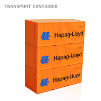 20ft Scale 1:87 ho scale train container model truck layout Material ABS high quality Material ABS