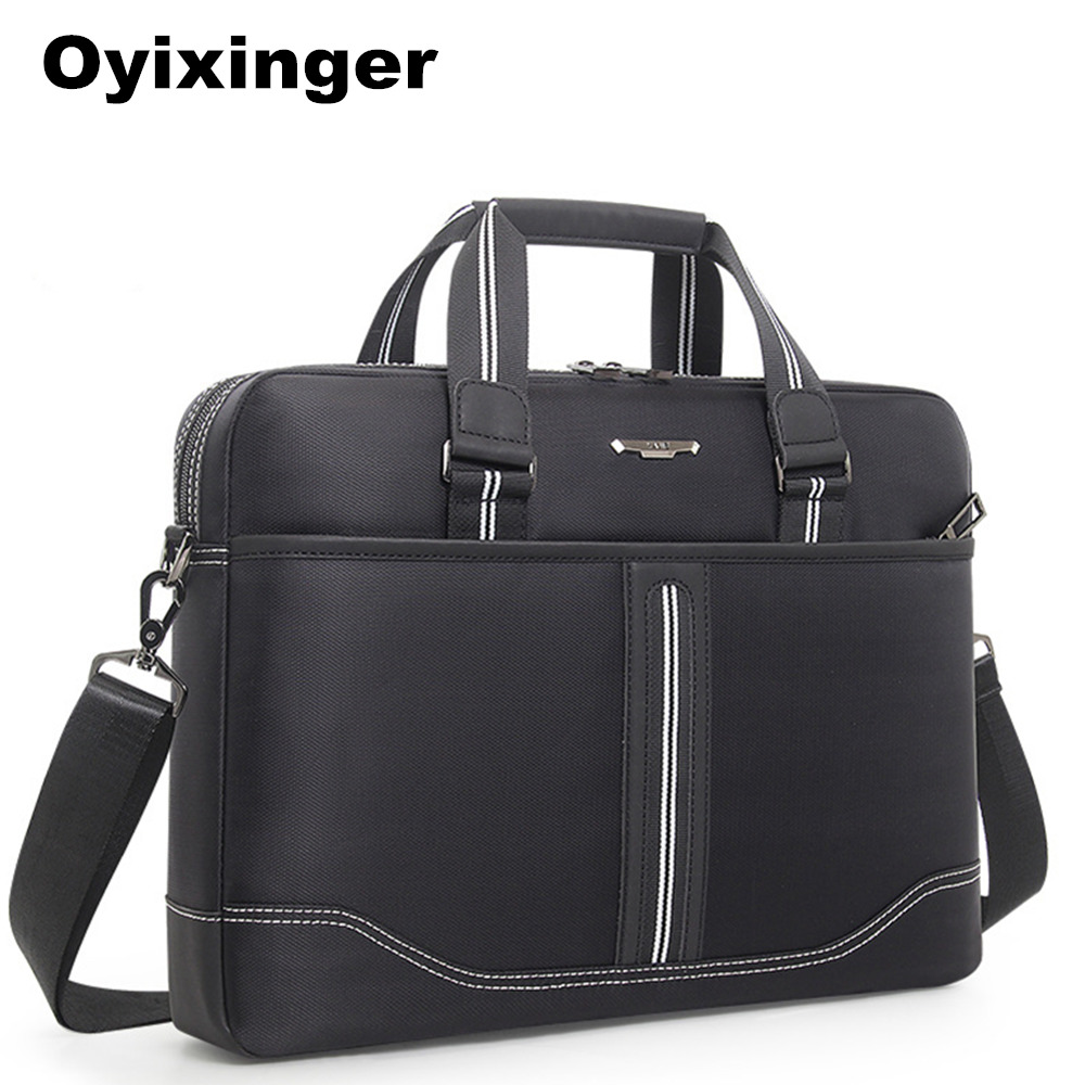 High Quality Men Black Briefcase Men's Oxford Business Handbag Office Laptop Bags For Women Lawyer Man Document Computer Bag New