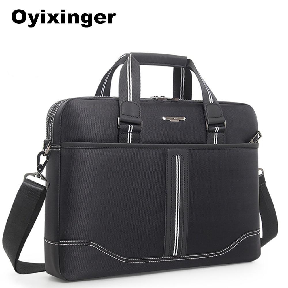 High Quality Men Black Briefcase Men's Oxford Business Handbag Office Laptop Bags For Women Lawyer Man Document Computer Bag New