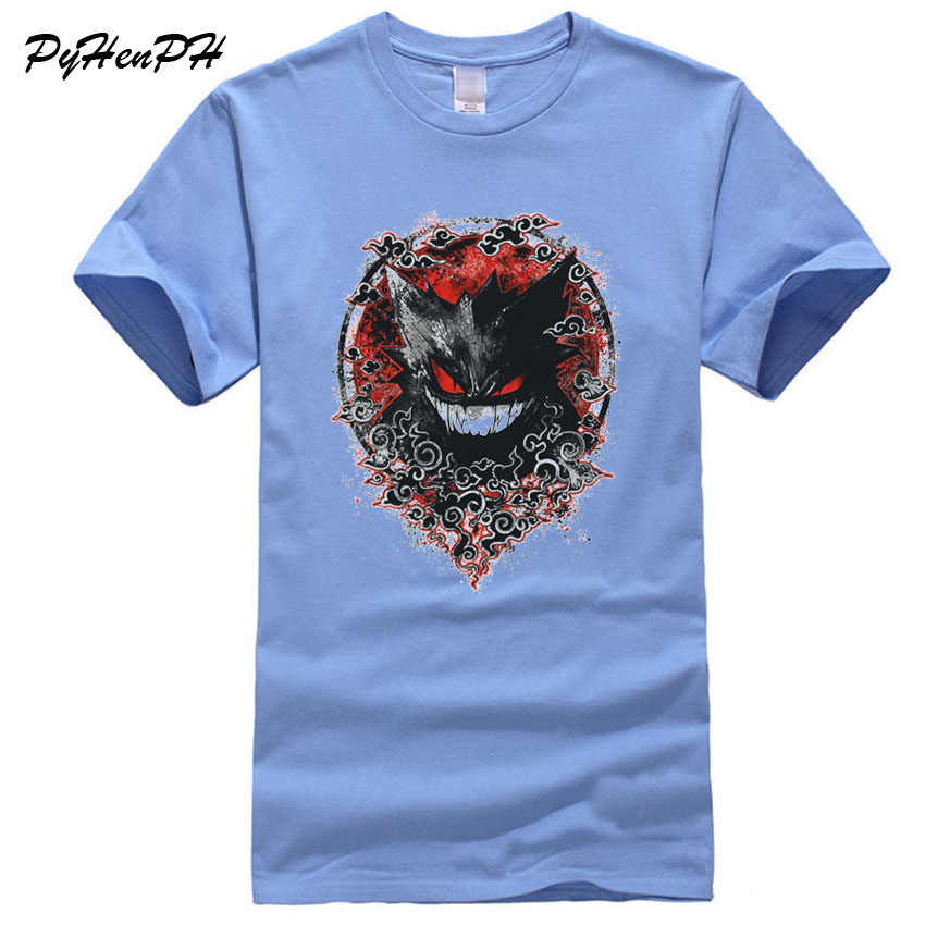 16062dfb New Pokemon T-shirt Men Fashion Gengar Print T Shirt Male Summer Casual  Short Sleeve