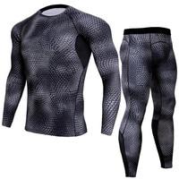2018 Men T Shirts MMA Long Sleeve T Shirt Leggings Base Layer Crossfit Men S Compression