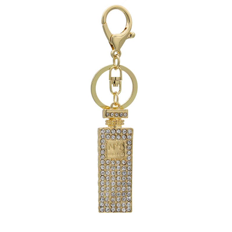 Linnor Twinkling Crystal Perfume Bottle Keychains Charm Gifts for font b Women b font Hang Purse
