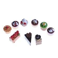 Kitchen Toys Chocolate-Cake-Charm Miniature-Food Fake Strawberry Art-Supply-Decoration