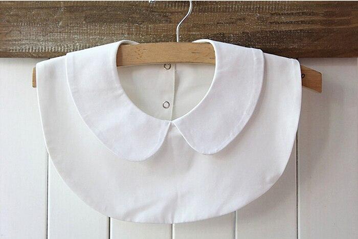 Lady women sweet round half shirt fake collar shawl tie for Peter pan shirt pattern