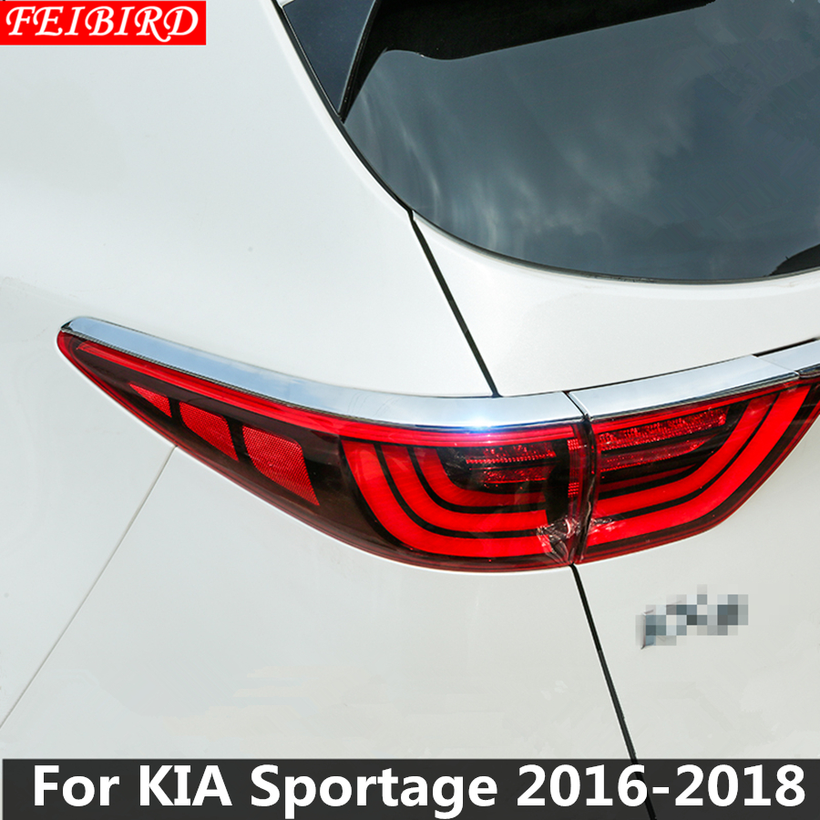 Autocollants de décoration de couverture de feu arrière en Chrome ABS garniture 4 pièces/ensemble pour KIA Sportage 2016 2017 2018