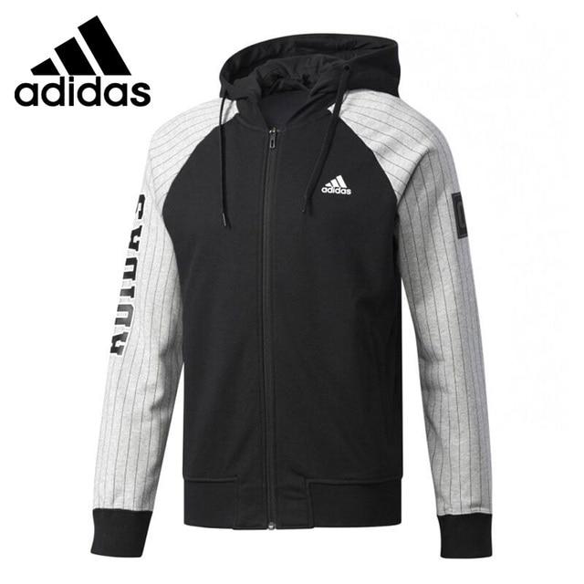 81be57b517772 Original de la Nueva Llegada 2017 Adidas JKT KN BBALL hombre chaqueta Con  Capucha Ropa Deportiva