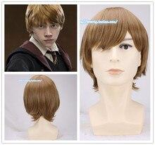 1 sztuk rona weasleya Cosplay brązowy peruka Comic Con Cosplay włosów Ronald Bilius Role Play kostiumy peruki + peruka Cap