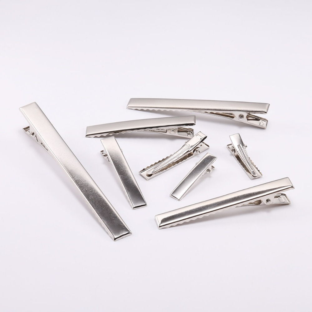 20pcs lot 30 40 45 55mm Air Clips Single Prong Alligator Hairpin With Teeth Blank Setting For DIY Hair Clips Jewelry Making Base in Jewelry Findings Components from Jewelry Accessories