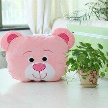 1 pcs Cute Animal Bear Pillow Children Lovely Top Quality Bolster As Gift 20cm Neck and Back Pillow Travel Bear Pillow