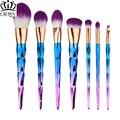 7pcs Makeup Brushes Set Diamond rainbow handle Cosmetic Foundation Eyshadow Blusher Powder Blending Brush beauty tools kits