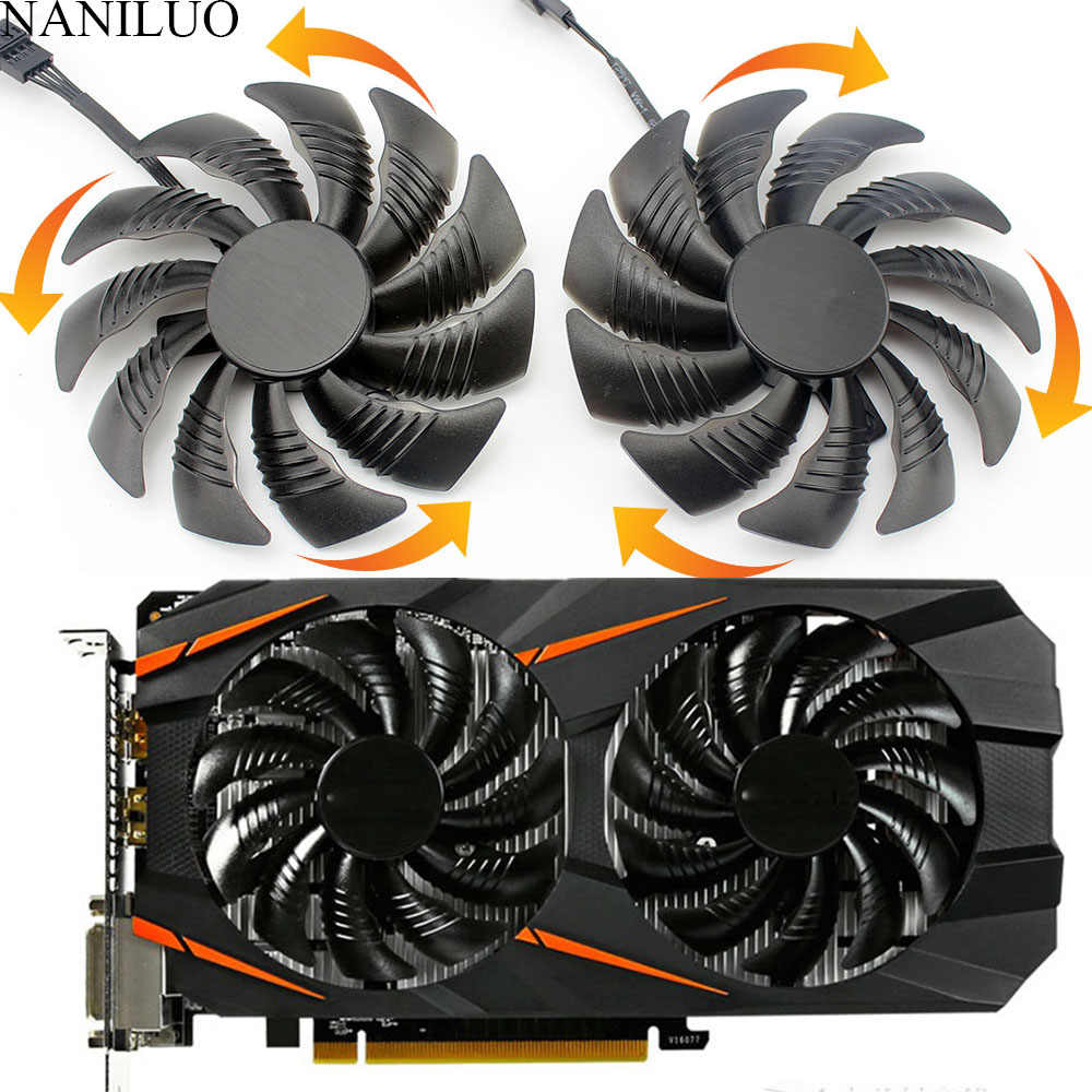 88 MM PLD09210S12HH T129215SU 4Pin Cooler Fan Cho Gigabyte GeForce GTX1060 1070 GTX 1050ti GTX 960 RX570 RX470 Card Đồ Họa