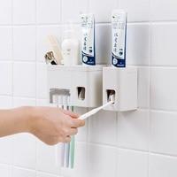 Беспробиваемый 2458 клей настенный автоматический зубная паста для туалета Зубная паста держатель для зубной щетки чашка настенное креплени...