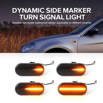2pieces Led Dynamic Side Marker Turn Signal Light For Volkswagen VW Bora Golf 3 4 Passat 3BG Polo SB6 SEAT Ibiza Leon Skoda Ford 1