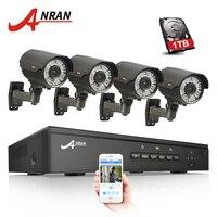 4CH POE NVR CCTV System 2TB HDD Onvif 1080P HD H 264 Varifocal 2 8mm