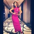 Sarahbridal Sexy vestidos de celebridades Myriam Fares 2015 venda quente de luxo lantejoulas vestidos de baile vestidos de festa