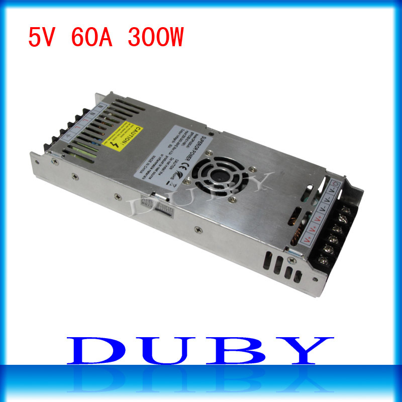 Utral thin 5V 60A 300W Switching power supply Driver For LED Light Strip Display AC200-240V  Factory Supplier ac 85v 265v to 20 38v 600ma power supply driver adapter for led light lamp