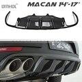Задний диффузор из углеродного волокна для Porsche Macan 14 '-17' тюнинг кузова автомобиля
