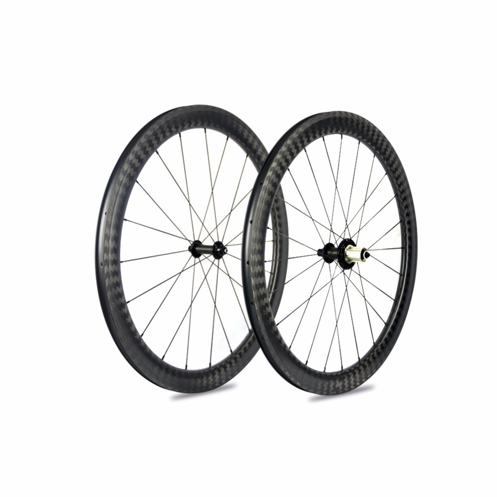 New 12K Carbon Road Wheels SuperLight Bicycle Carbon wheels U-Shape Clincher Carbon Road Wheelsets 700*25c Wheels Top R51 Hubs