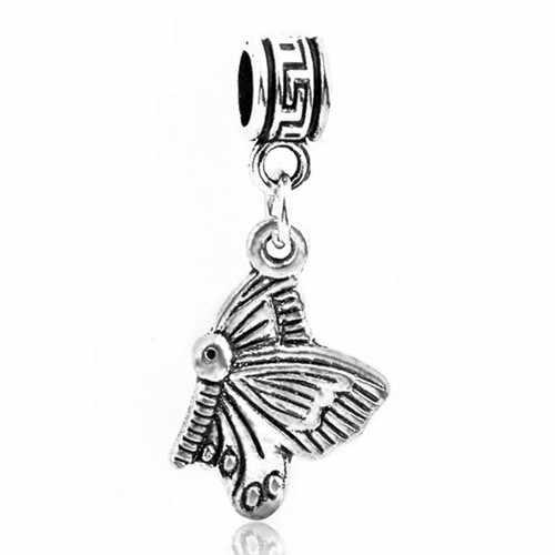 Великолепные вишня с кристаллами Сердце Любовь бабочка кошка имитация жемчуга бусины Fit Pandora талисманы браслеты для женщин DIY ювелирных подарок