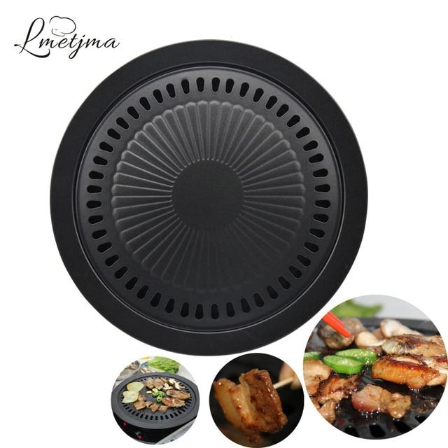 LMETJMA Korean Barbecue Grill Smokeless Stovetop Barbecue