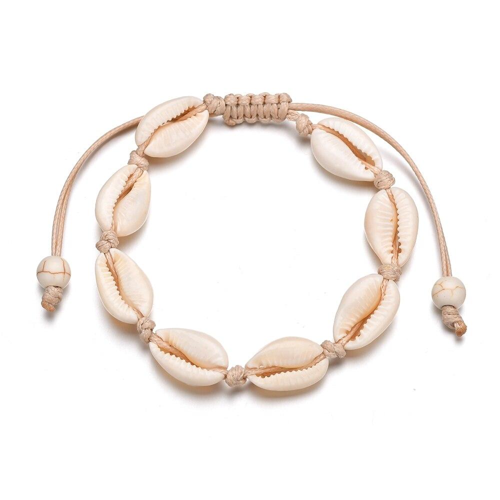MissCyCy Boho Natural Shells Charm Bracelets for Women Beach Jewelry Handmade Rope Bracelets & Bangles Jewelry Gift