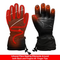 SAVIOR Heat ski gloves riding heated gloves thick section super warm design palm sheepskin lining fleece breathable warm
