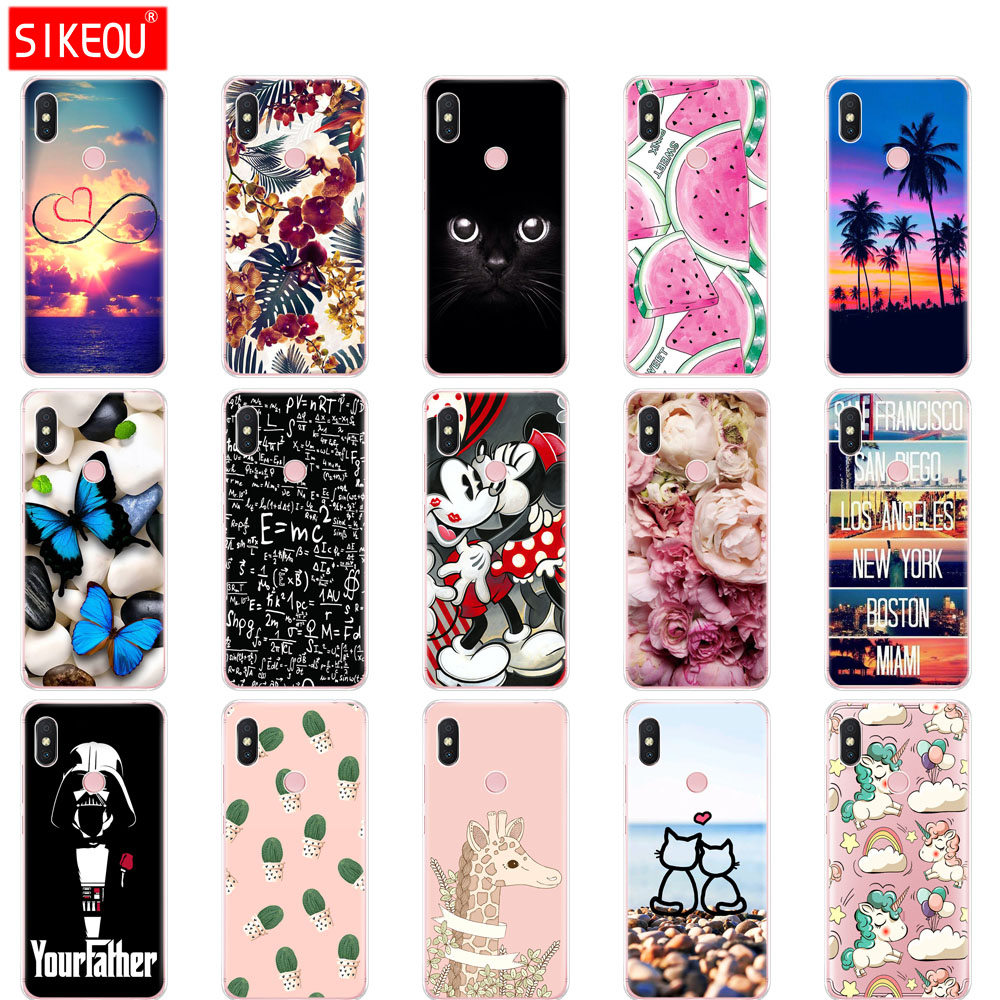 Silicone Case For Xiaomi Redmi S2 Case Y2 Back Cover Phone Case Xiaomi Redmi Y2 Bumper Hongmi S2 Coque Full Protection Butterfly