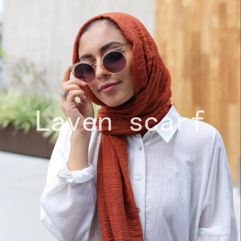 2017 NEW crinkle bubble cotton scarf plain popular shawls hijab spring wrinkle wrap muslim 85 color scarves/scarf 180*100cm