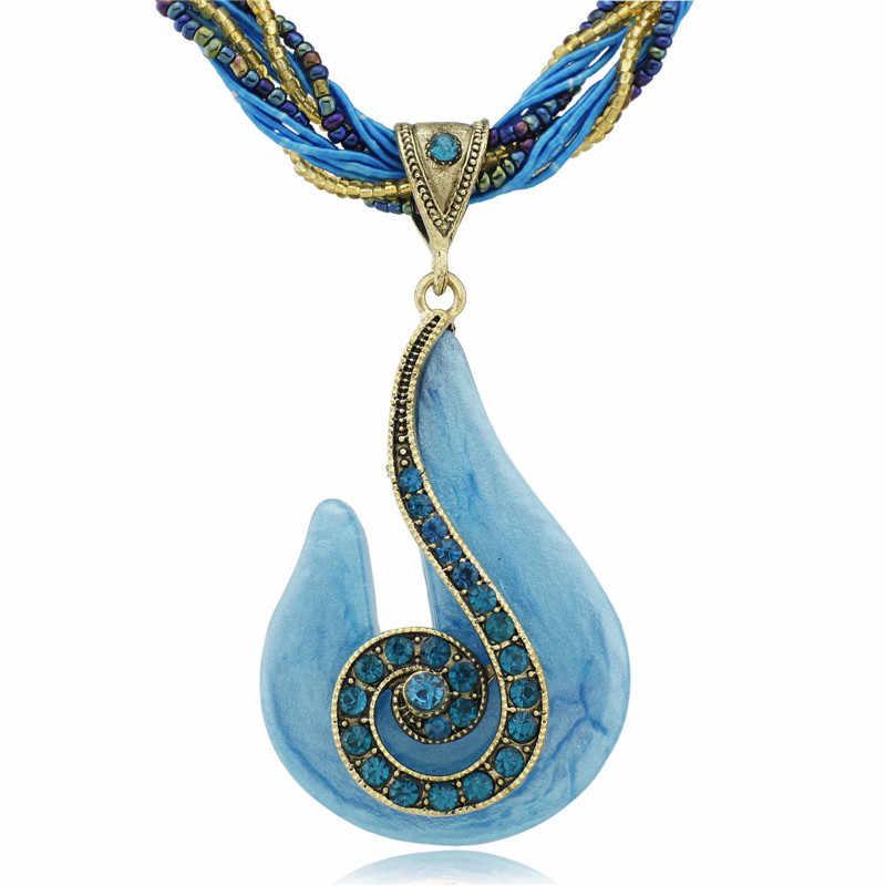 Femmes Bronze Note de musique perles de verre cordon corde chaîne pendentif clavicule collier livraison gratuite B003