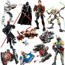 2019 New Star Wars Darth Maul Han Solo Trooper Building Blocks Figure Toys For Children with Starwars Super Hero(China)