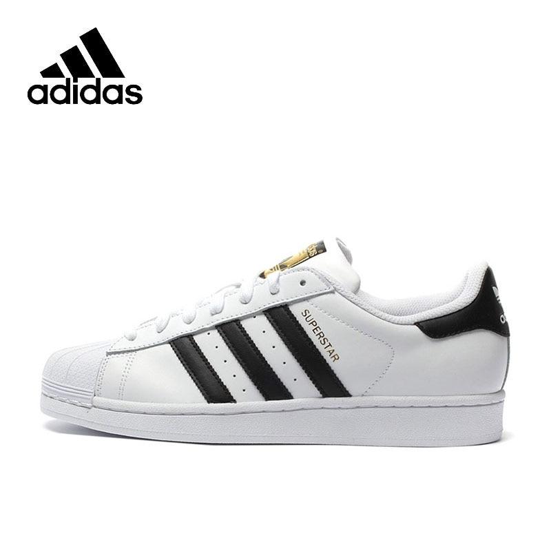 Original Adidas Official SUPERSTAR Clover Women's And Men's  Shoes Sport Sneakers Low Top Designer C77124 EUR Size U(China)
