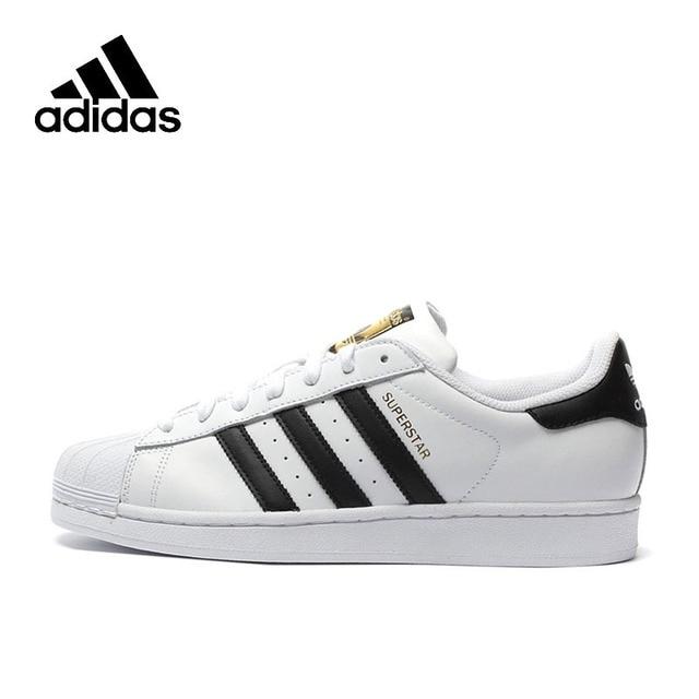 Original Adidas Official SUPERSTAR Clover Women's And Men's  Shoes Sport Sneakers Low Top Designer C77124 EUR Size U