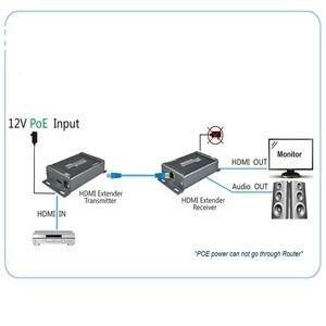 Image 4 - HDMI Extender over TCP/IP con Audio Extractor lavoro come splitter HDMI supporto 1080 p HDMI extender via Rj45 150 m