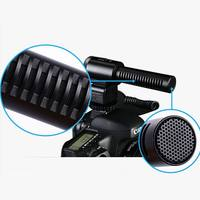 MIC 03 Professional Electret Microphone Camera External Stereo Microphone Mike For Nikon D7500 D7200 D5600 D5500 D5300 D3300