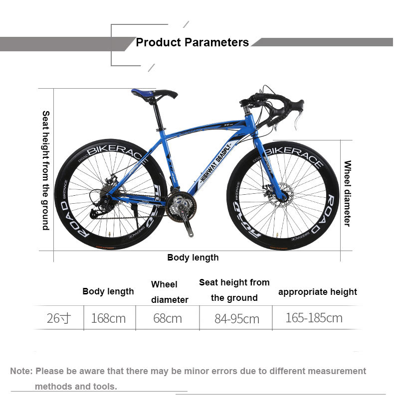 HTB1Y29dboz1gK0jSZLeq6z9kVXa7 Road Bike Fixed Gear Bicycle 26 inch 24/27 Speed Shift Bend Double Disc Brake Adult Student Men And Women