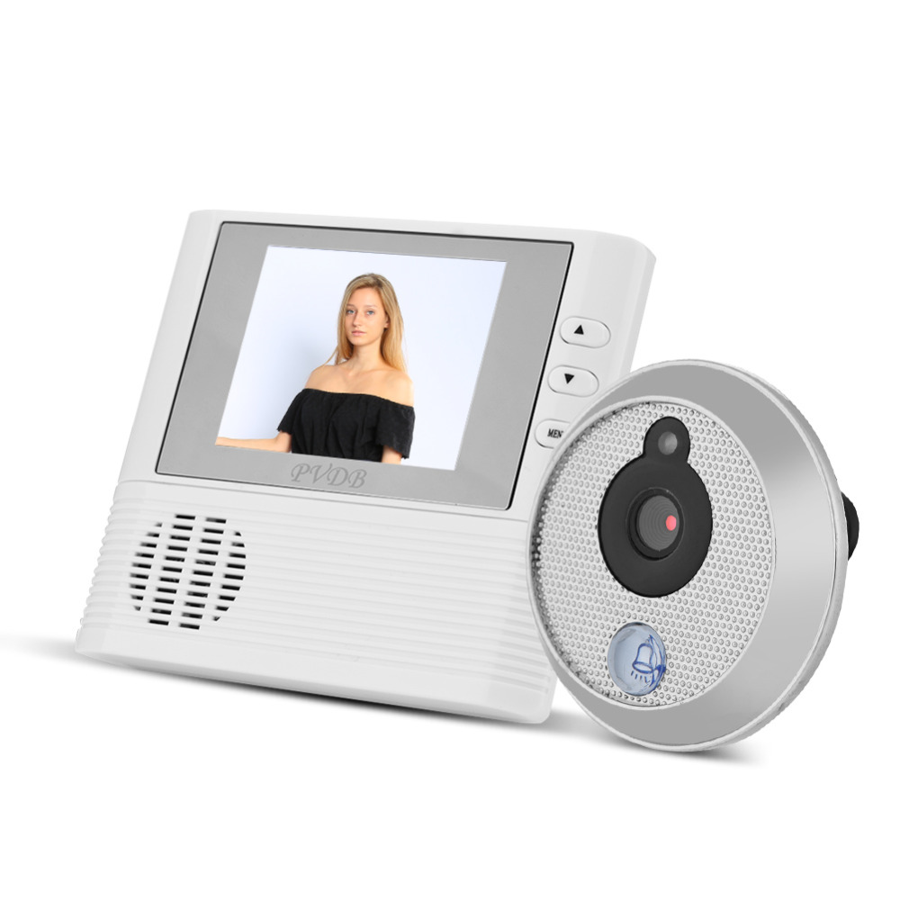 2.8 inch LCD Color Screen Electronic Digital DoorBell Camera Peephole Viewer IR Night Round Shape Door Photo Video Recording original danmini 3 0 tft lcd color screen door peephole viewer ir led night vision light doorbell 145 degrees view angle system