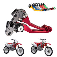 цена на Hot Sale CNC Pivot Dirttbike Brake Clutch Levers for Honda CRF 450R 250R 150R 250X 450X 230F 250L/M 8 Colors Free Shipping C20